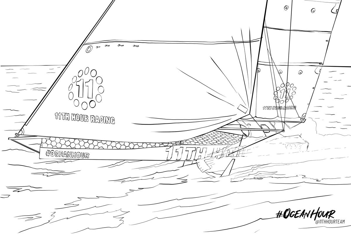 11th hour racing sailing team covid-19 coloring book coronavirus