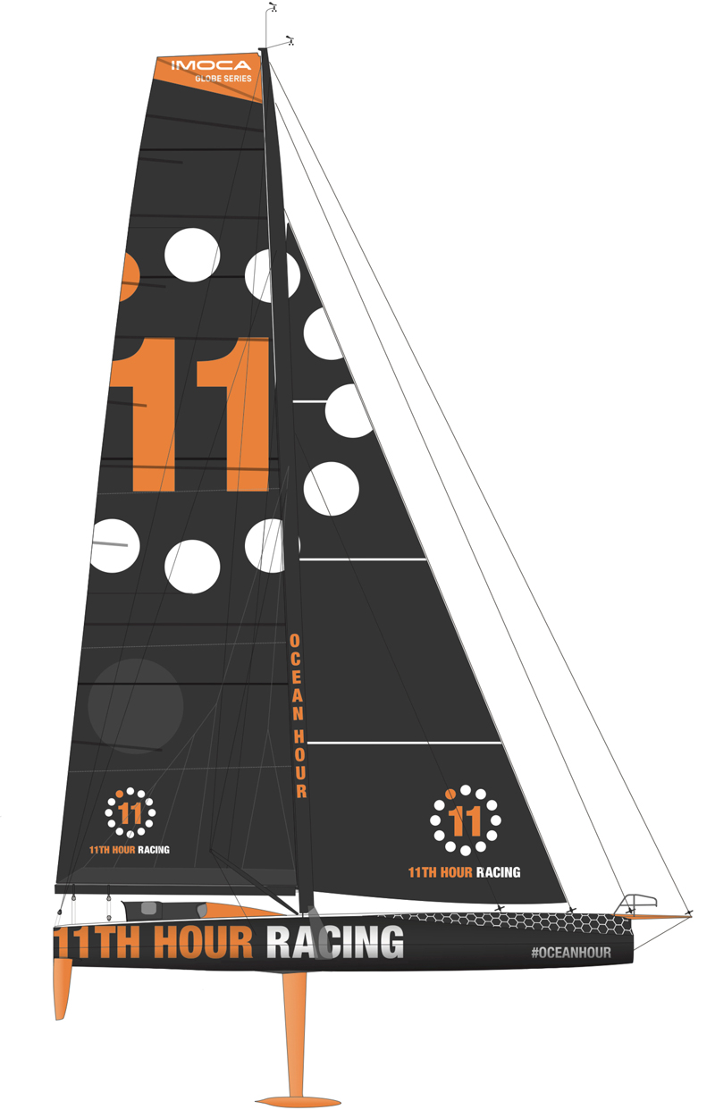 11th hour racing team imoca 60 2d boat model