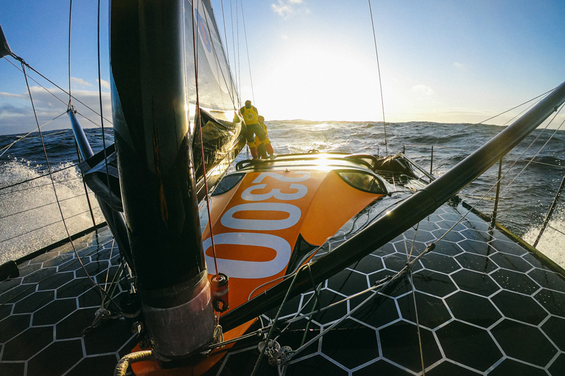 11th hour racing team imoca 60 sailboat