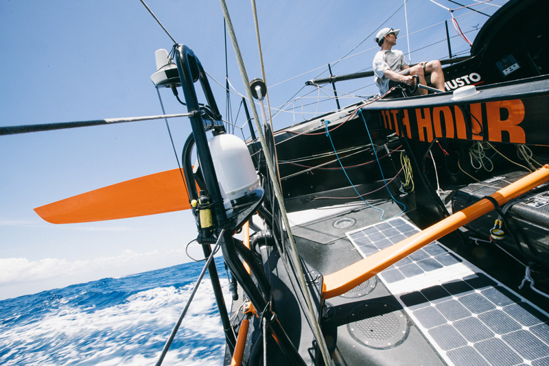 11th hour racing team imoca 60 sailboat solar panels
