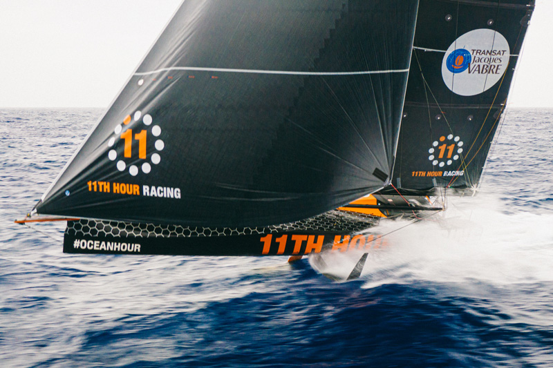 11th hour racing team imoca 60 sailboat foiling