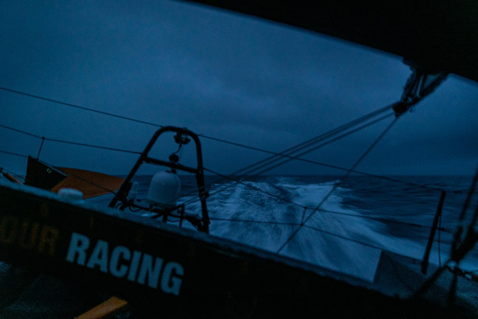 11th Hour Racing Team sail Imoca 60 on a transatlantic delivery back to France.