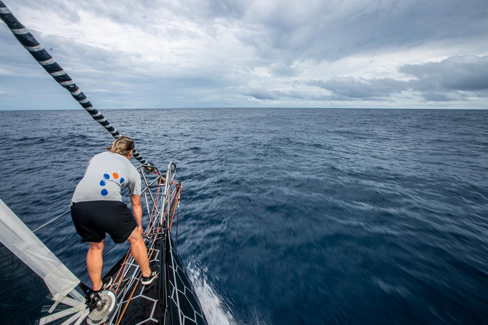 11th hour racing team transatlantic IMOCA 60 bow vast ocean