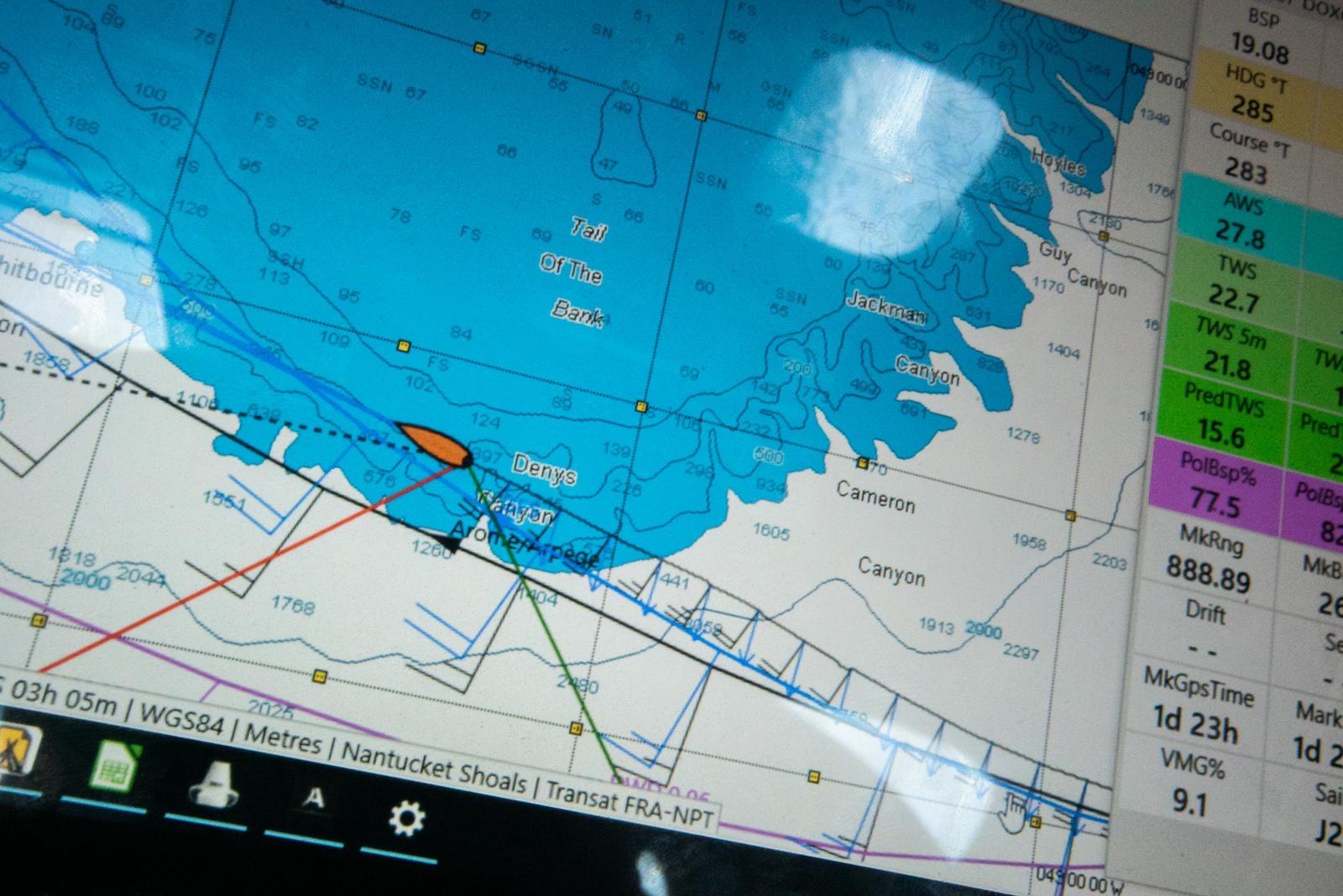 11th Hour Racing Team sail over the Newfoundland Grand Banks.