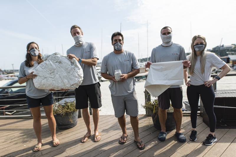 The Team works with Clean Ocean Access to encourage a reduction in shrink wrap for boat owners