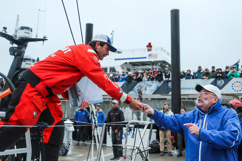 fort adams charlie enright newport mayor 11th hour racing the ocean race stopover