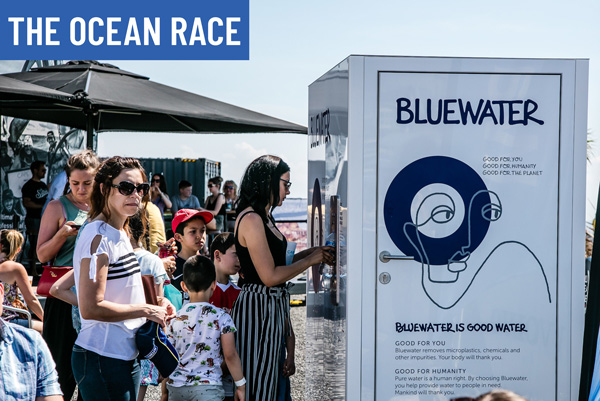 the ocean race bluewater refill stations